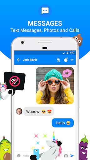 Messenger SMS Text - Messages, Chat, Emoji, SMS  screenshots 1