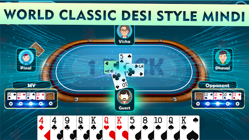 Mindi - Offline Indian Card Game 3.7 screenshots 3