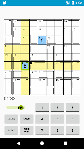 Killer Sudoku 1.5b screenshots 2