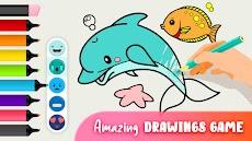 着色や描く出来る動物の塗り絵 - ぬりえ 無料のおすすめ画像1
