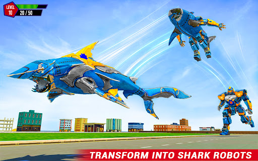 Shark Robot Car Game - Tornado Robot Bike Games 3d 1.1.1 screenshots 3