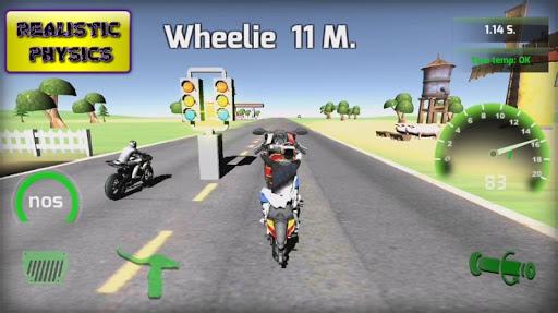Motorbike  Online Drag Racing - Wheelie racing 3D screenshots 7