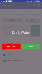 Poke Me - Water Drink Reminder Screenshot