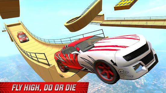 impossible mega ramp sports car stunt drive hack