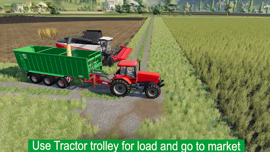 Drive Tractor Farming Game 2021-Combine Harvesters Apk Download 4