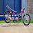 Drag racing modified motorcycle