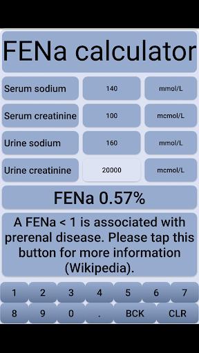 fena - fractional excretion of sodium screenshot 1