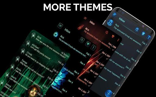 Dark Mode SMS Messenger Theme apktram screenshots 3
