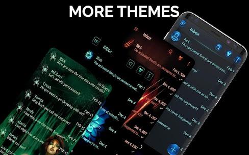 Dark Mode SMS Messenger Theme 3