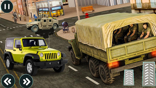 drive army truck check post: army transport games screenshot 1