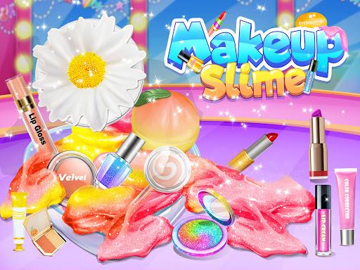 Makeup Slime - Fluffy Rainbow Slime Simulator apklade screenshots 1