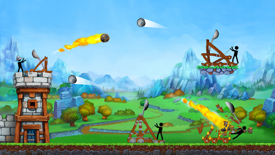 The Catapult — King of Mining Epic Stickman Castle 1