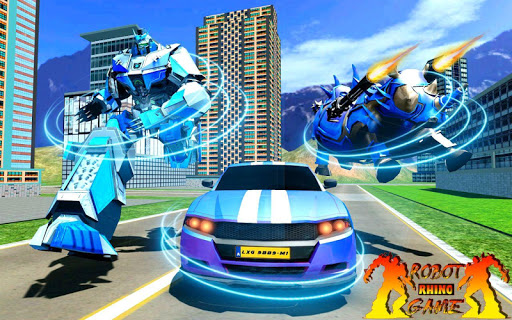 Rhino Robot Car Transformation: Robot City battle 0.6 screenshots 1