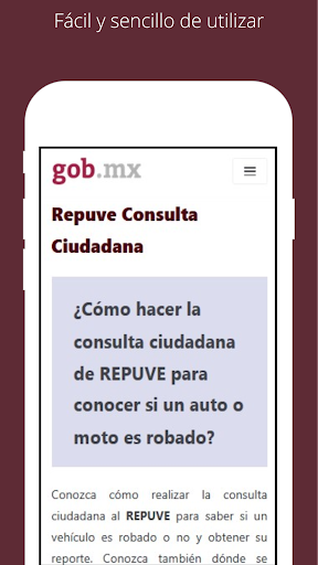 La aplicaciu00f3n de REPUVE mas rapida de Mu00e9xico 1.0.3 Screenshots 2