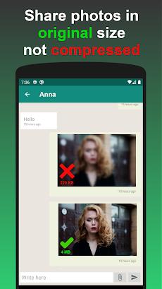 Photo Messenger - send 4K photo in high resolutionのおすすめ画像1