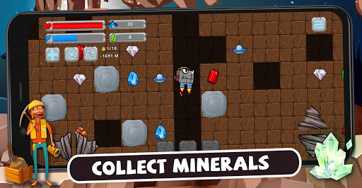Digger Machine: dig and find minerals modavailable screenshots 1