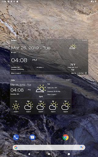 Weather & Clock Widget for Android screenshots 9