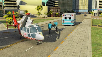 911 Helicopter Flying Rescue City Simulator