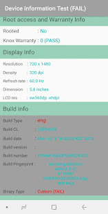 Device Checker  *SAM* (Phone and tablet testing)