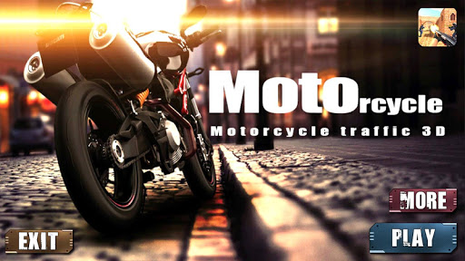 motorcycle traffic 3d screenshot 1