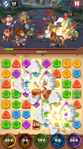 Heroes & Elements: Match 3 Puzzle RPG Game apkpoly screenshots 15