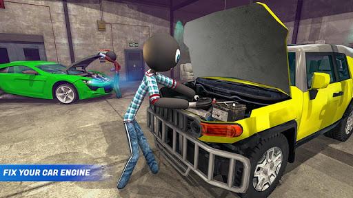 Stickman Car Garage Repair Shop  screenshots 4