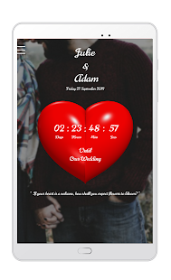 Wedding Countdown App - Can't Wait For The Big Day