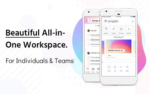 Simplish - Work and Life Organizer 1.0.8 screenshots 1
