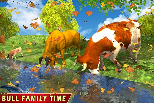 Wild Bull Family Survival Sim apkpoly screenshots 2