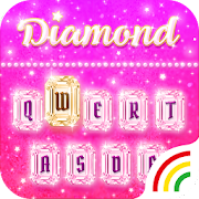 Pink Diamond Keyboard Theme - Emoji&Gif