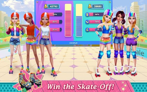 Roller Skating Girls - Dance on Wheels Screenshot