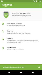 Anti-virus Dr.Web Light Screenshot
