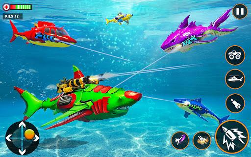 Monster Truck Robot Shark Attack u2013 Car Robot Game 2.1 screenshots 5