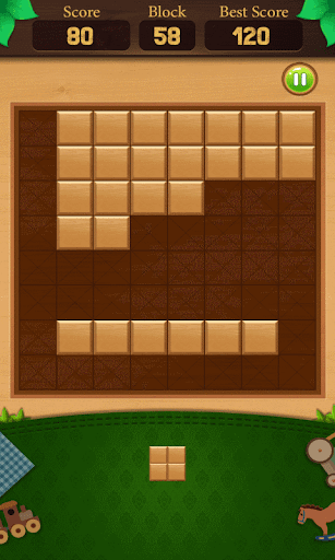 wooden block puzzle : end game screenshot 1