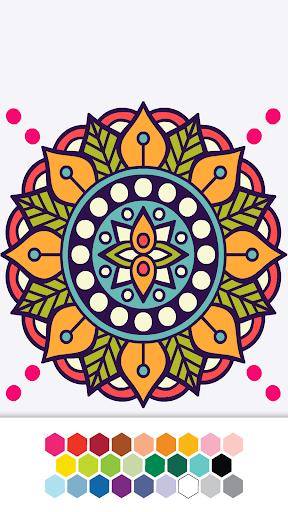 mandala coloring book screenshot 2