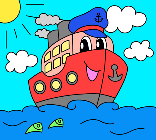 Coloring pages for children : transport 1.1.9 screenshots 6