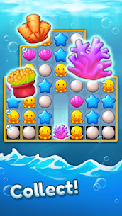 Ocean Friends: Match 3 Puzzle MOD APK (Unlimited Boosters) 5