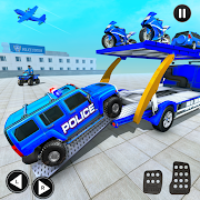 Grand Police Prado Car Transport Truck Games