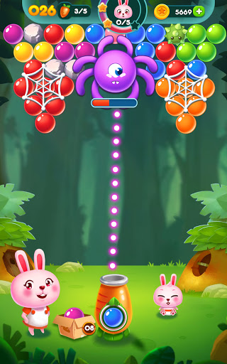 Bubble Bunny: Animal Forest Shooter apkpoly screenshots 15