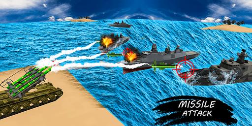 missile launcher battleship:island naval attack screenshot 3