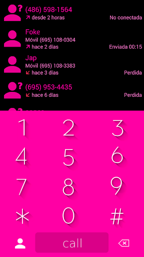 THEME MATERIAL PINK BLACK EXDIALER  screenshots 1