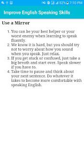 Improve English Speaking skills & Practice
