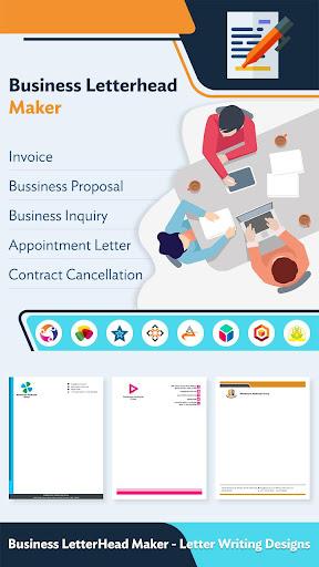 Business LetterHead Maker – Letter Writing Designs modiapk screenshots 1