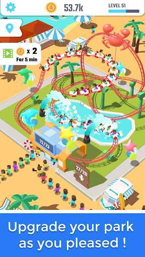 Idle Roller Coaster android2mod screenshots 2