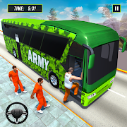 Offroad US Army Transport Prisoners Bus Driving