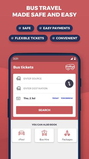 redBus - Worldu2019s #1 Online Bus Ticket Booking App  Screenshots 1