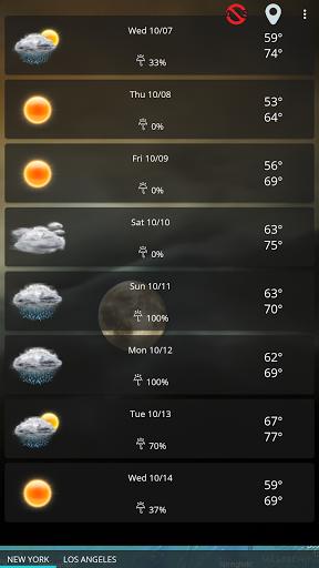 Weather forecast & transparent clock widget  Screenshots 14