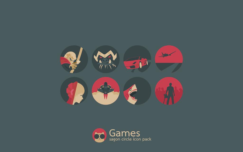 Sagon Circle Icon Pack: Dark UI  poster 5
