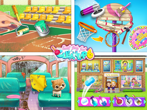 Sweet Baby Girl Cleanup 6 - School Cleaning Game android2mod screenshots 11