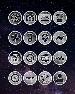 Lines Circle APK White Icon Pack [PAID] Download New Version 3